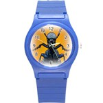 Animal Oil Beetle Round Plastic Sport Watch Small