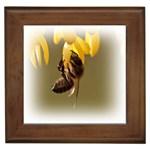 Bee Hard Work Framed Tile