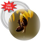 Bee Hard Work 3  Button (100 pack)
