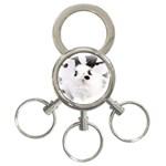 Animals Rabbits Brothers 3-Ring Key Chain