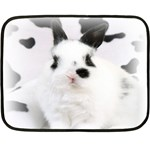 Animals Rabbits Brothers Mini Fleece Blanket(Two Sides)
