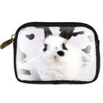 Animals Rabbits Brothers Digital Camera Leather Case