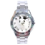 Animals Rabbits Brothers Stainless Steel Analogue Men's Watch
