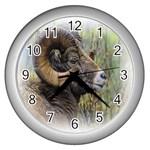 Bighorn Sheep Wall Clock (Silver)