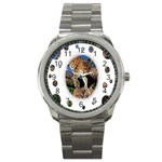 3 Dimention Kingdom Animal King Tree Climber Leopard  Sport Metal Watch