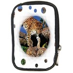 3 Dimention Kingdom Animal King Tree Climber Leopard  Compact Camera Leather Case