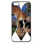 3 Dimention Kingdom Animal King Tree Climber Leopard  Apple iPhone 5 Seamless Case (Black)