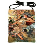 Autumn By Alfons Mucha 1896 Shoulder Sling Bag