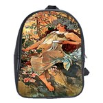 Autumn By Alfons Mucha 1896 School Bag (XL)