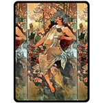 Autumn by Alfons Mucha 1896 Fleece Blanket (Extra Large)