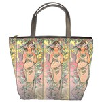 Die Rose By Alfons Mucha 1898 Bucket Bag