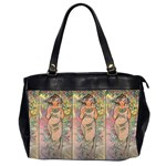 Die Rose By Alfons Mucha 1898 Oversize Office Handbag (Two Sides)