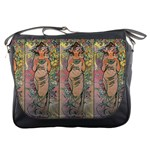 Die Rose By Alfons Mucha 1898 Messenger Bag