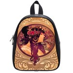 Donna Orechini By Alphonse Mucha School Bag (Small)