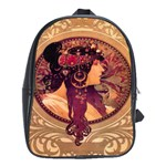 Donna Orechini By Alphonse Mucha School Bag (XL)