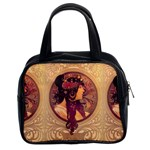 Donna Orechini By Alphonse Mucha Classic Handbag (Two Sides)