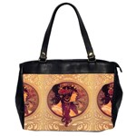 Donna Orechini By Alphonse Mucha Oversize Office Handbag (Two Sides)
