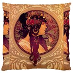 Donna Orechini By Alphonse Mucha Large Cushion Case (Two Sides)