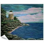 Calms Seas at Jerry s Lighthouse by Ave Hurley Canvas 8  x 10