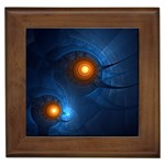 Swirling Pods Fractal Framed Tile