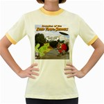 Killer Tomato Squirrel Women s Fitted Ringer T-Shirt