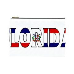 Florida Dominican Republic Cosmetic Bag (large) by worldbanners