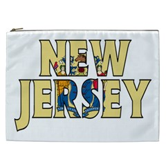 New Jersey Cosmetic Bag (xxl) by worldbanners