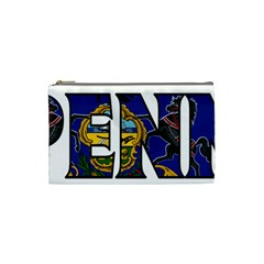 Pennsylvania Cosmetic Bag (small) by worldbanners