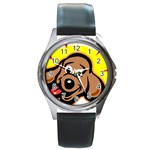 Dog Round Metal Watch