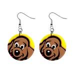 Dog 1  Button Earrings