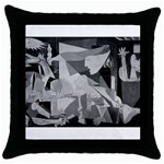 Pablo Picasso - Guernica Round Throw Pillow Case (Black)