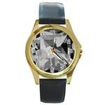Pablo Picasso - Guernica Round Round Gold Metal Watch