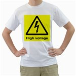 high_voltage White T-Shirt