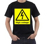 high_voltage Black T-Shirt