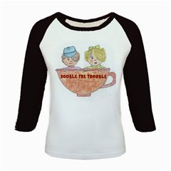 Double The Trouble Kids Baseball Jersey from Art2Do Front