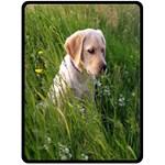 golden retriever Fleece Blanket (Extra Large)
