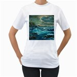 Hobson s Lighthouse -AveHurley ArtRevu.com- Women s T-Shirt (White) (Two Sided)
