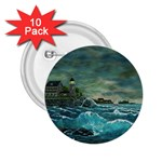 Hobson s Lighthouse -AveHurley ArtRevu.com- 2.25  Button (10 pack)