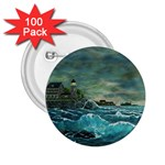 Hobson s Lighthouse -AveHurley ArtRevu.com- 2.25  Button (100 pack)