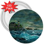 Hobson s Lighthouse -AveHurley ArtRevu.com- 3  Button (100 pack)