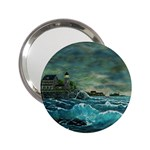Hobson s Lighthouse -AveHurley ArtRevu.com- 2.25  Handbag Mirror