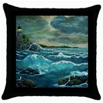 Hobson s Lighthouse -AveHurley ArtRevu.com- Throw Pillow Case (Black)