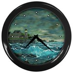 Hobson s Lighthouse -AveHurley ArtRevu.com- Wall Clock (Black)