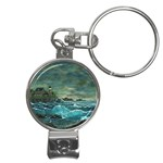 Hobson s Lighthouse -AveHurley ArtRevu.com- Nail Clippers Key Chain