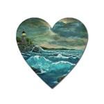 Hobson s Lighthouse -AveHurley ArtRevu.com- Magnet (Heart)