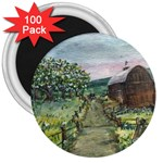 Amish Apple Blossoms -AveHurley ArtRevu.com- 3  Magnet (100 pack)