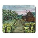 Amish Apple Blossoms -AveHurley ArtRevu.com- Large Mousepad