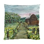 Amish Apple Blossoms -AveHurley ArtRevu.com- Standard Cushion Case (Two Sides)