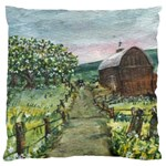 Amish Apple Blossoms -AveHurley ArtRevu.com- Large Cushion Case (Two Sides)