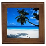 Cancun Beach Framed Tile
